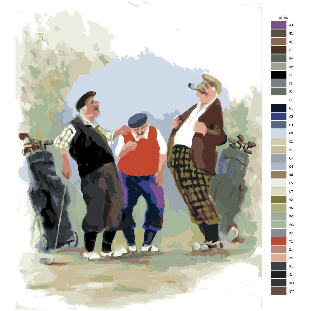 Návod pro malování podle čísel Golfová povídky