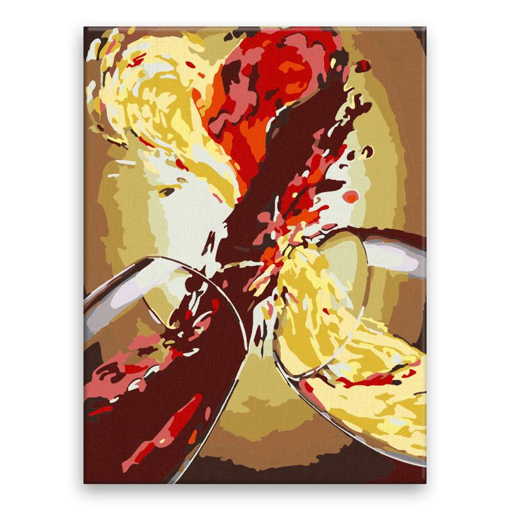 Malování podle čísel Láska ve víně