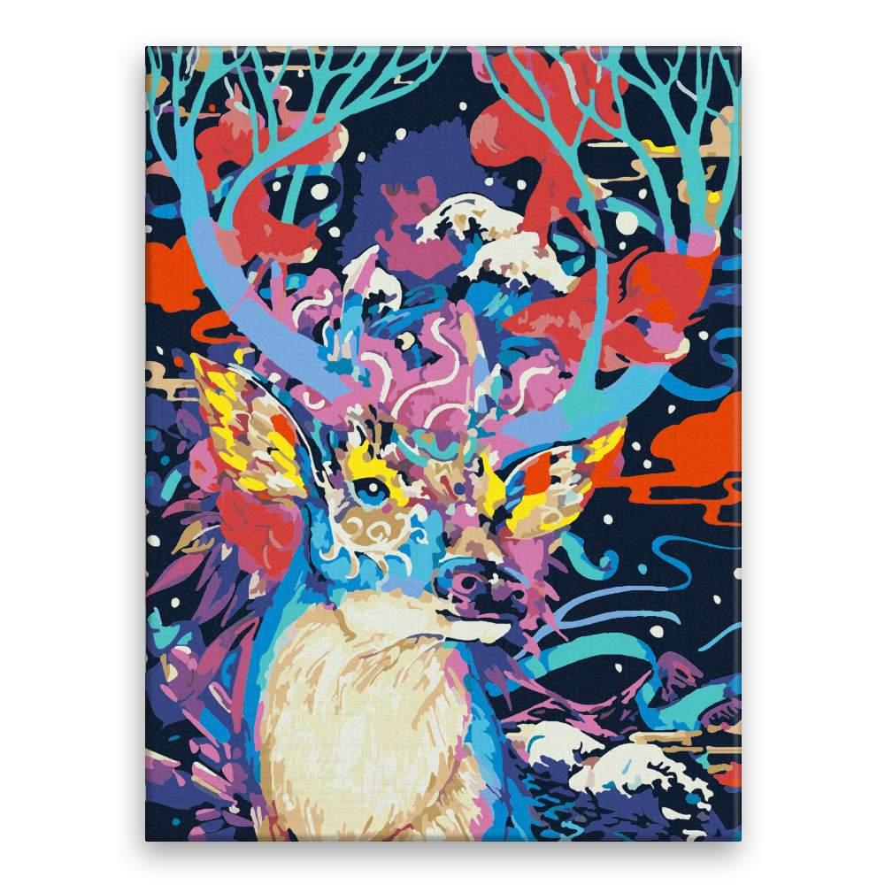 Malování podle čísel Jelen v barvách