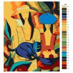 Malování podle čísel Pestrobarevné ženy