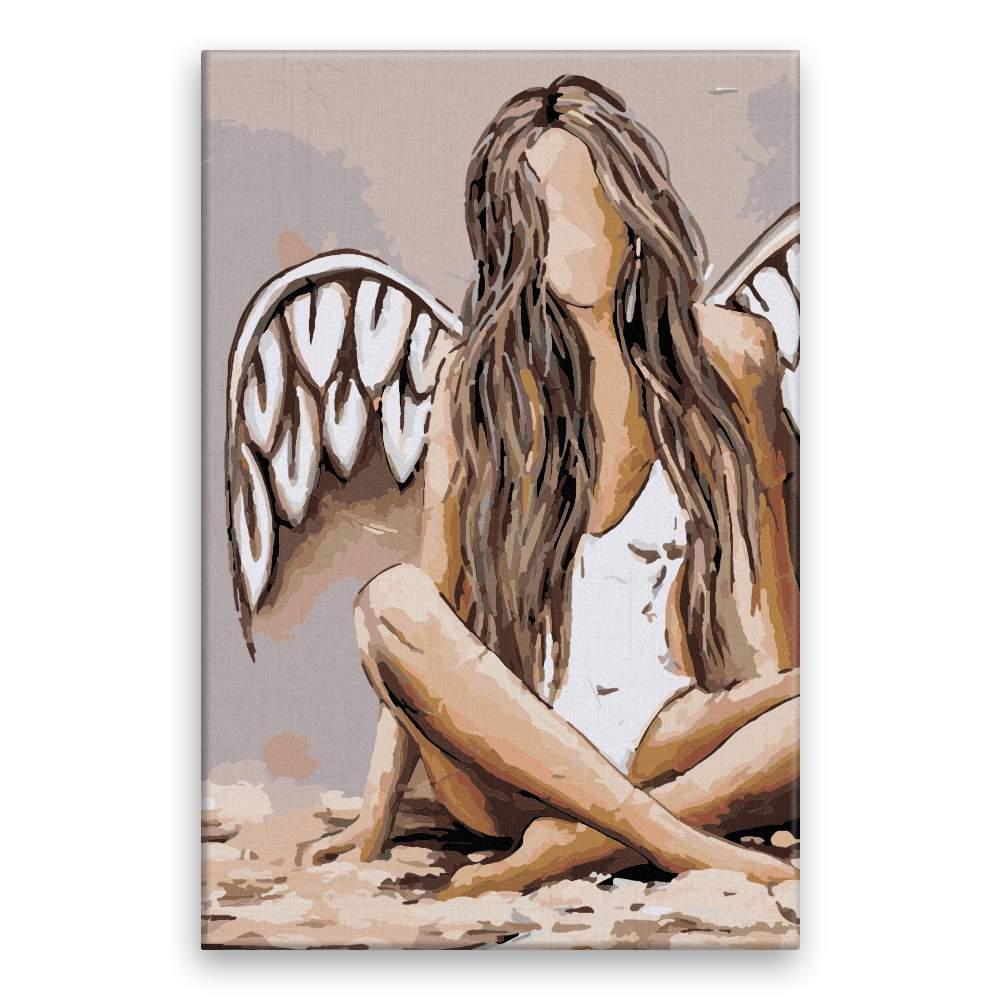Malování podle čísel Pouze anděl