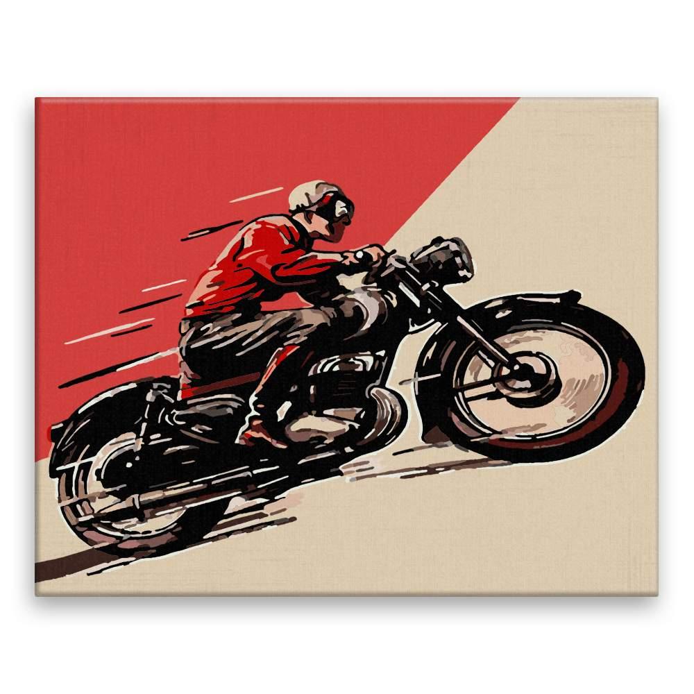 Malování podle čísel Historická motorka