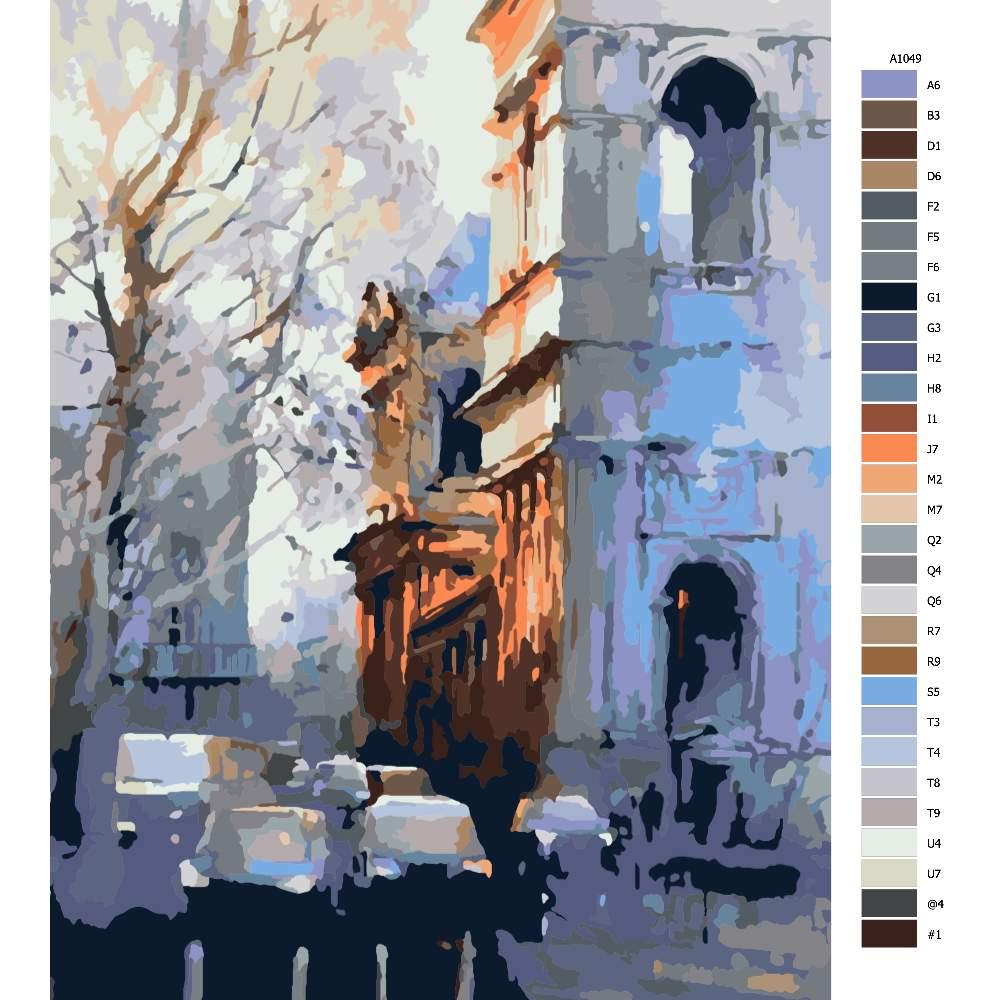 Návod pro malování podle čísel Město