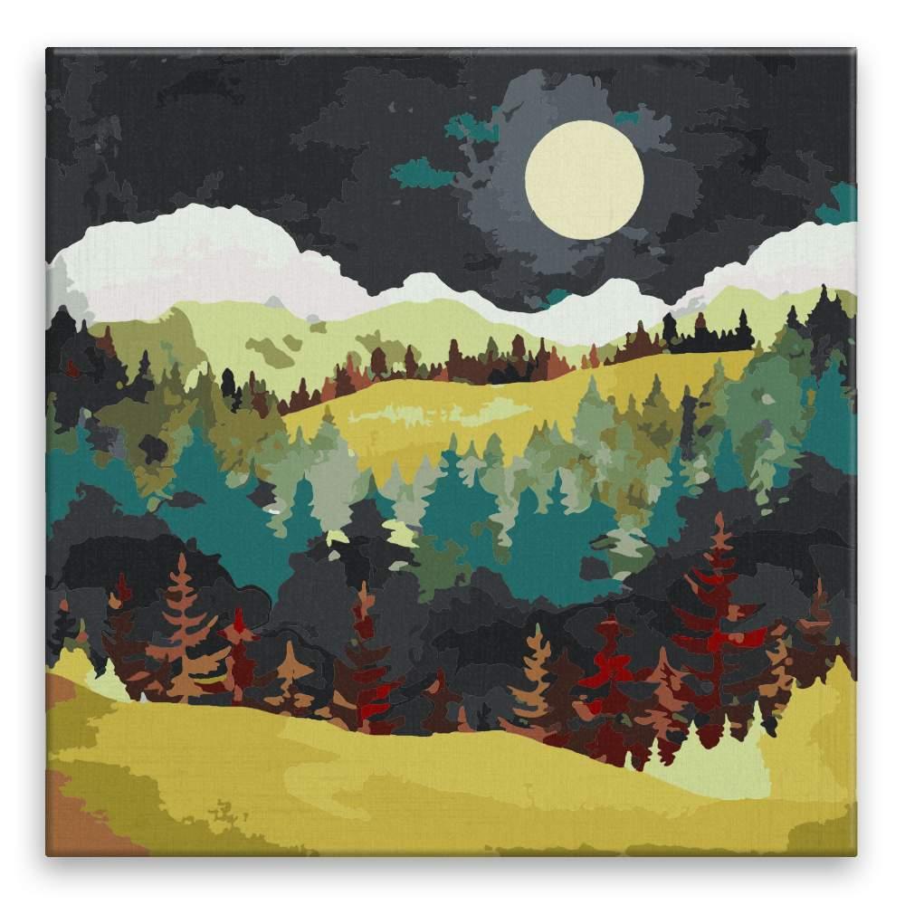 Malování podle čísel Večerní krajina