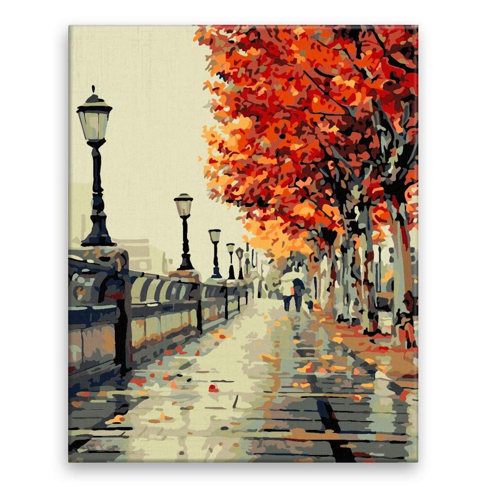 Malování podle čísel Podzimní procházka