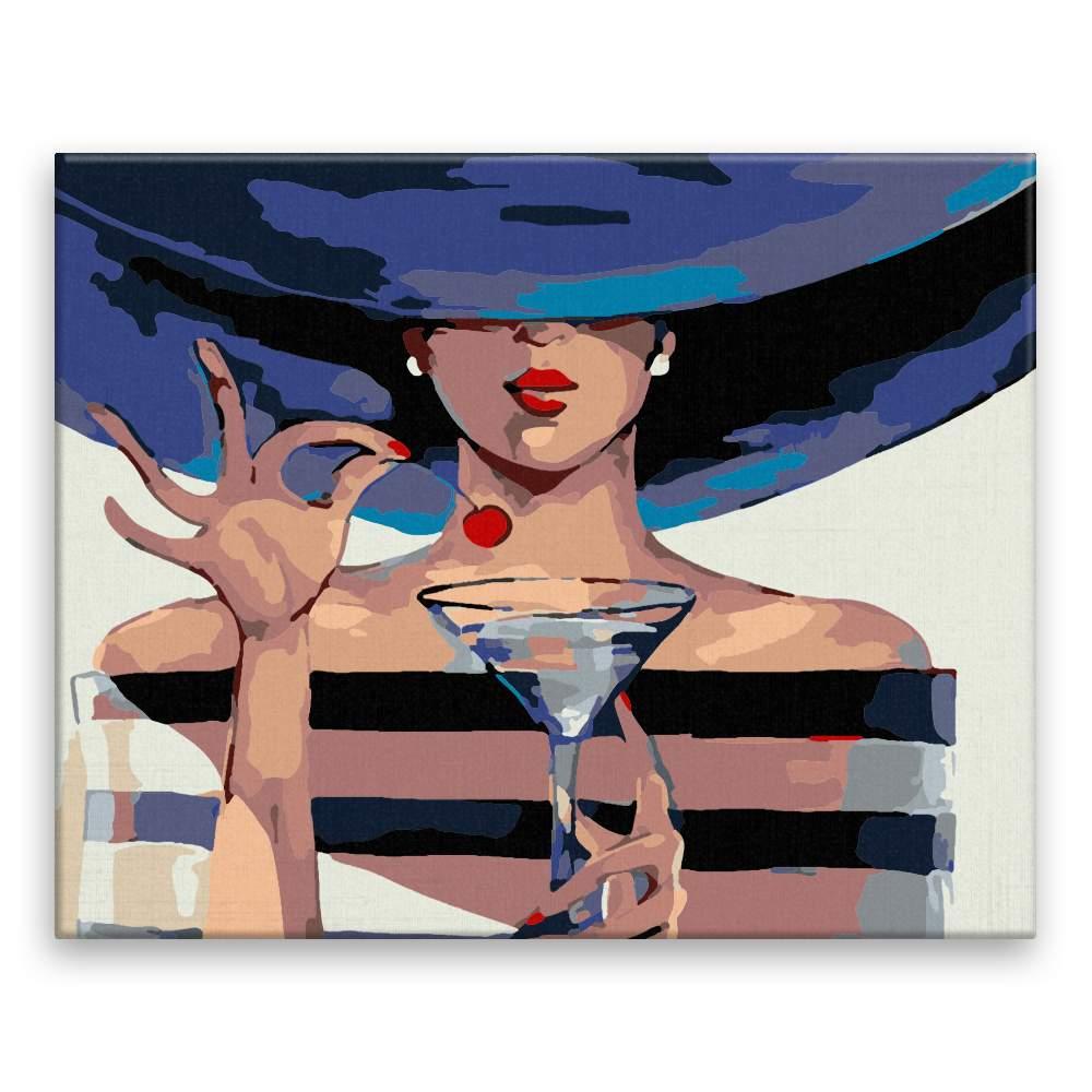 Malování podle čísel Dáma s drinkem