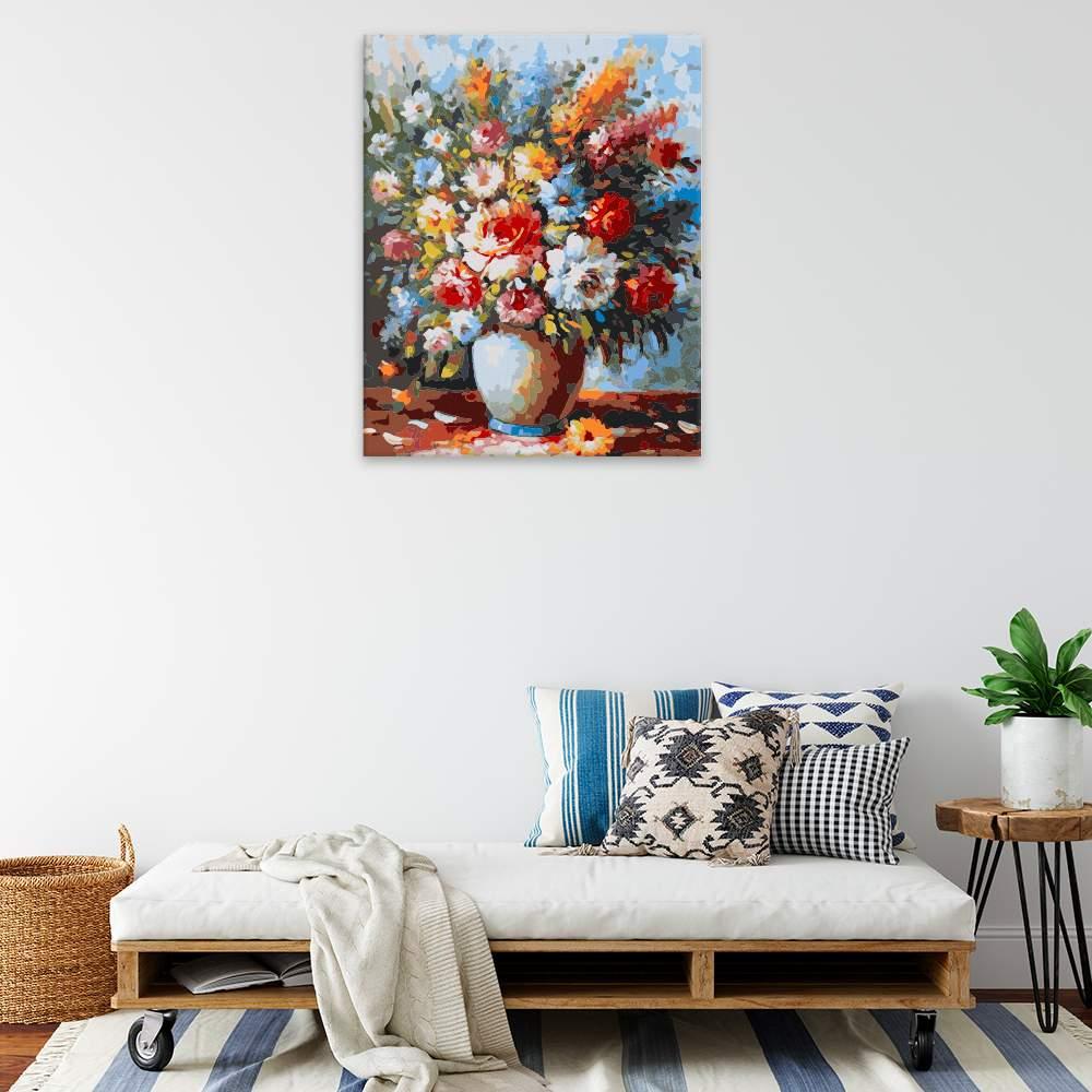 Malování podle čísel Polní květy ve váze