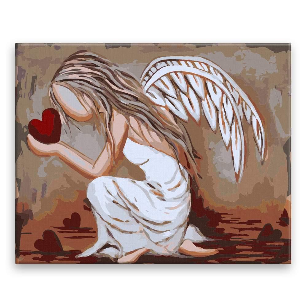 Malování podle čísel Anděl lásky