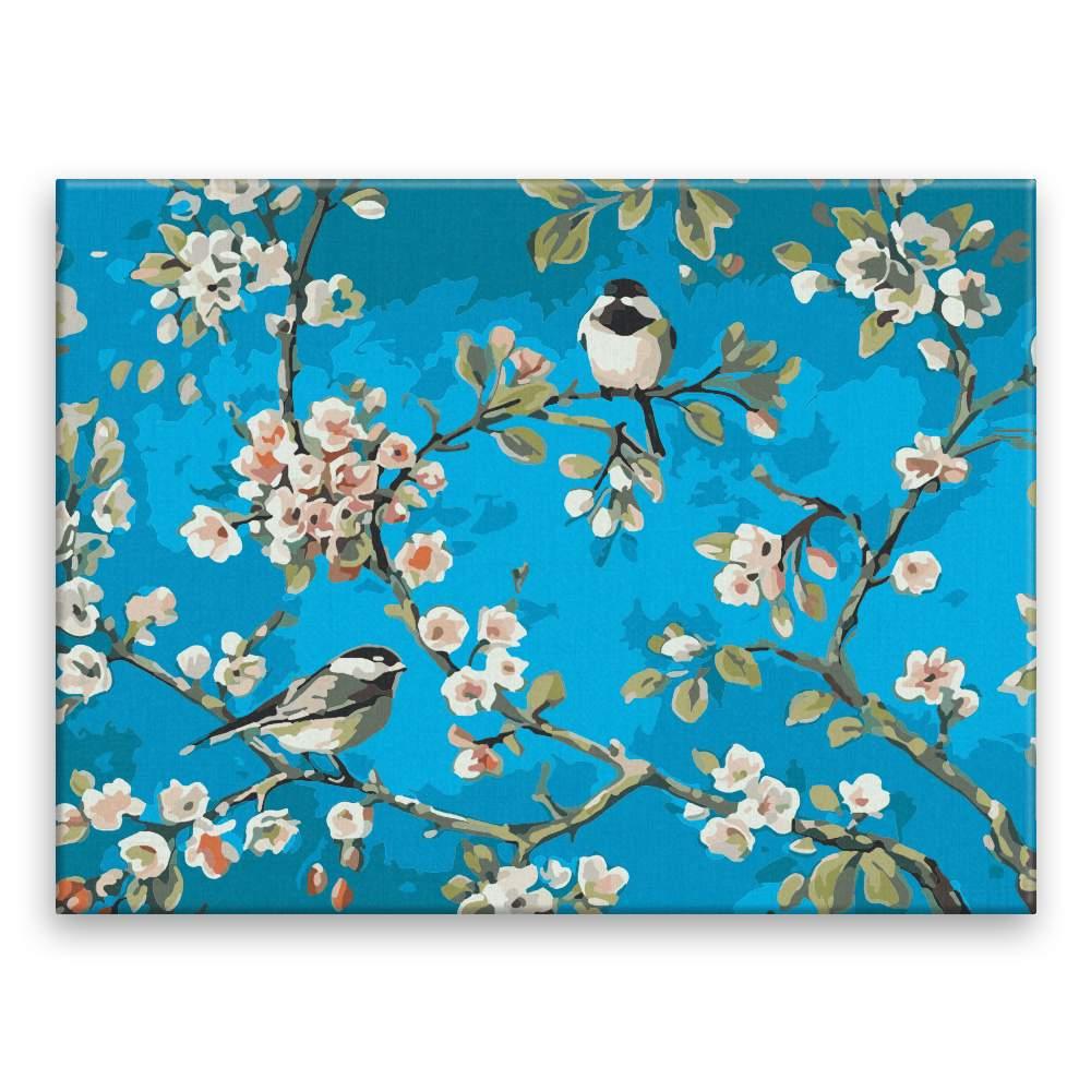 Malování podle čísel Ptáčci ve větvích