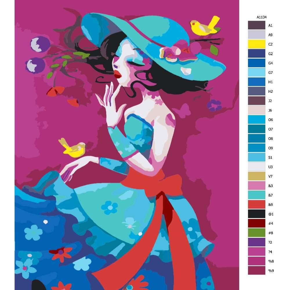 Návod pro malování podle čísel Barevná krása