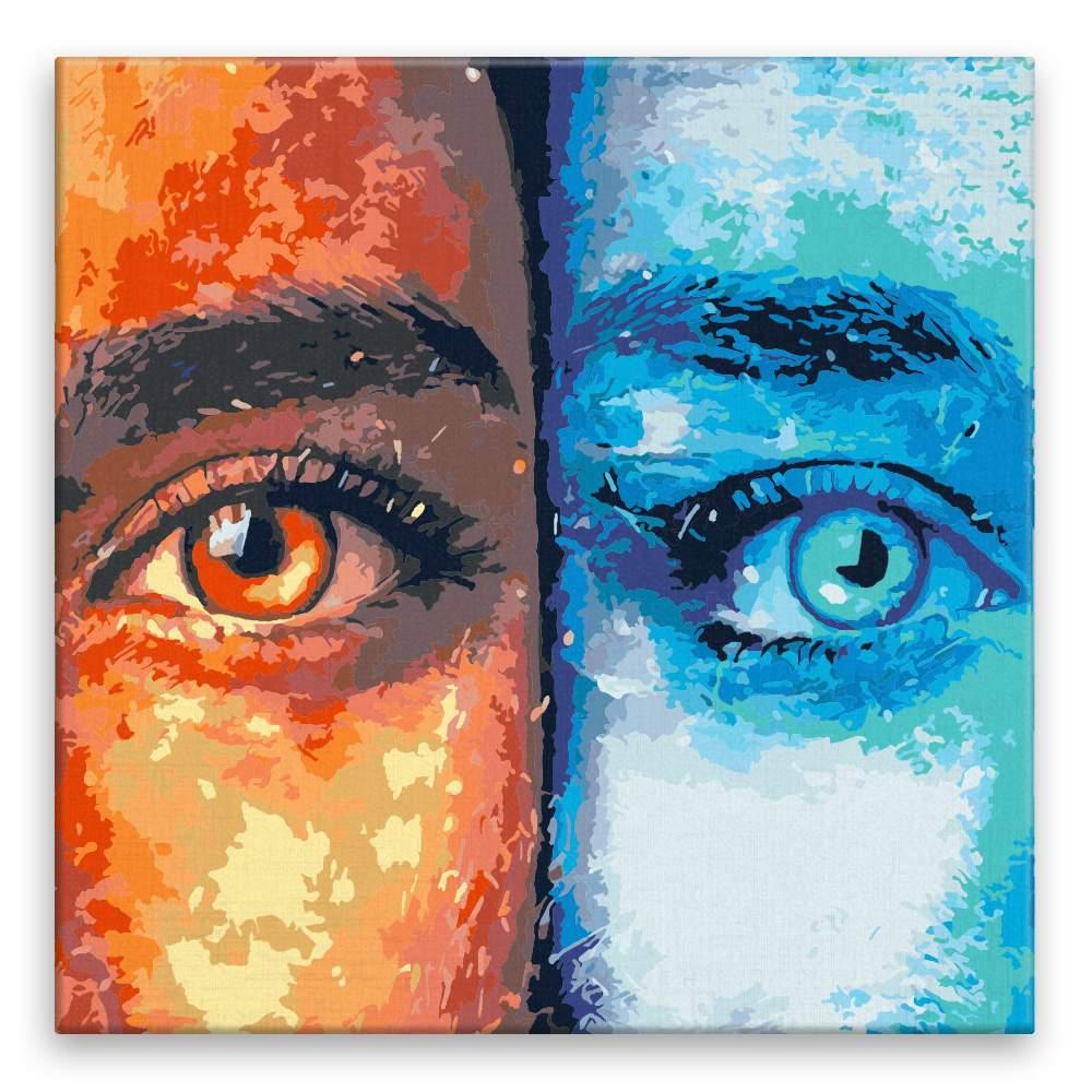 Malování podle čísel Oranžová nebo modrá