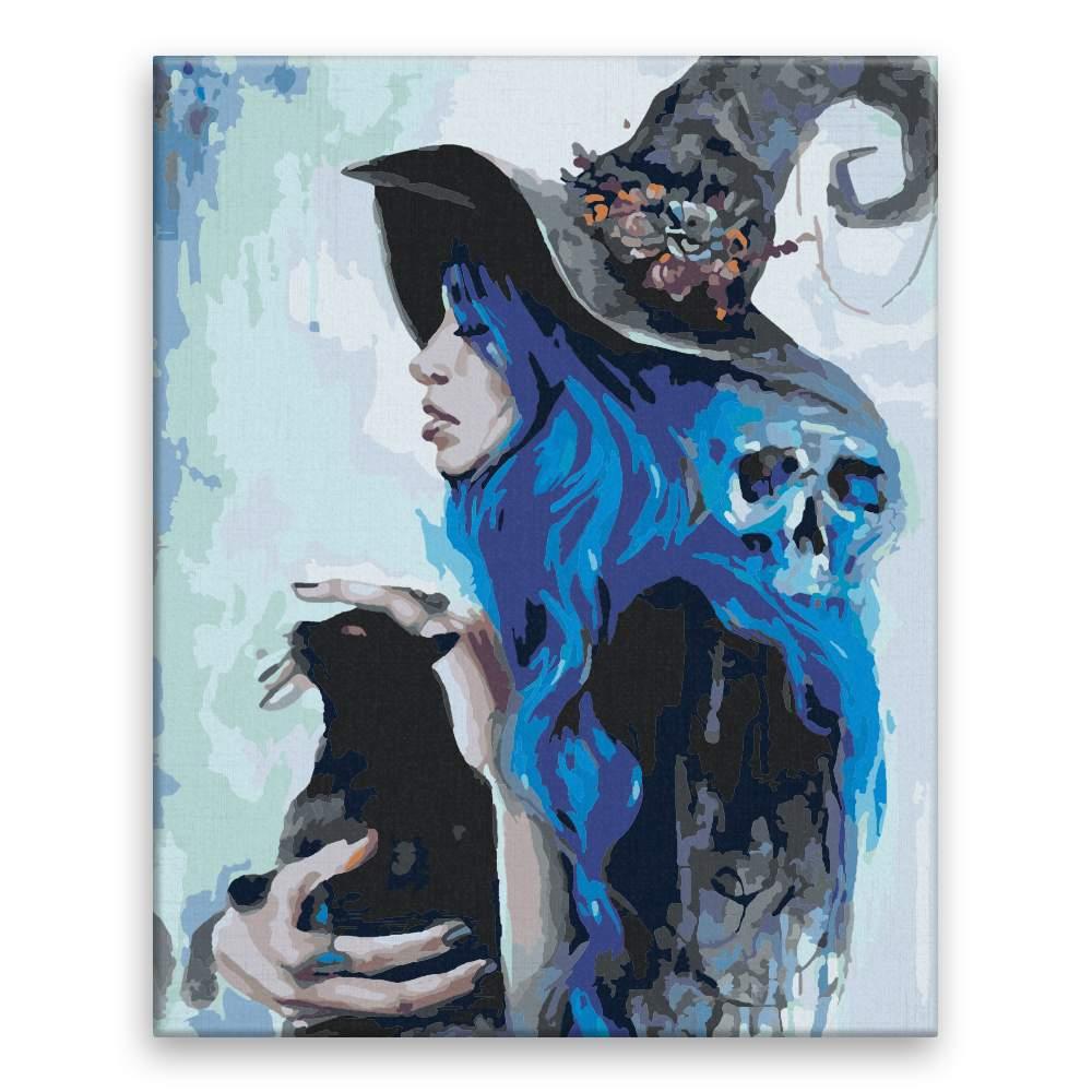 Malování podle čísel Modré kouzlo