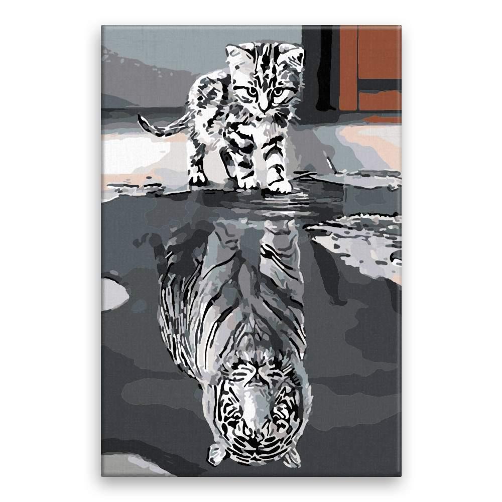Malování podle čísel Kočka vs tiger