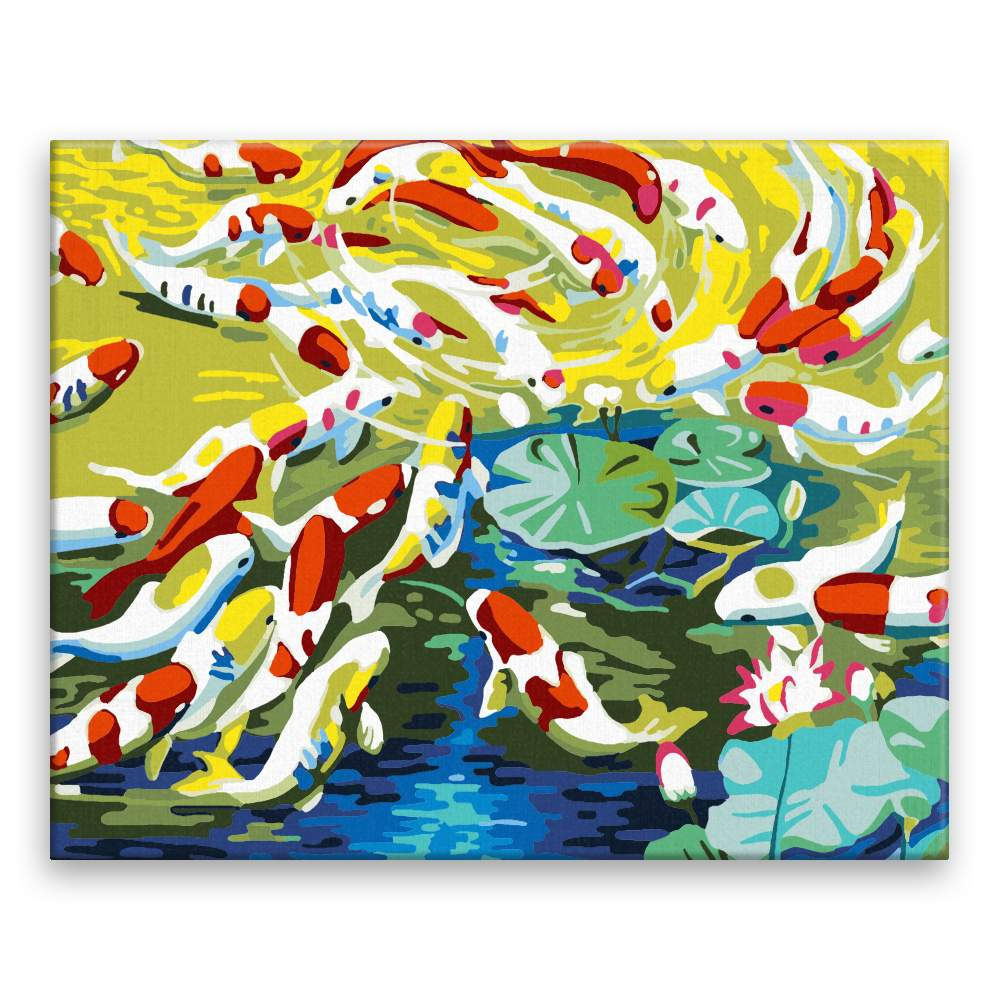 Malování podle čísel Japonské rybičky