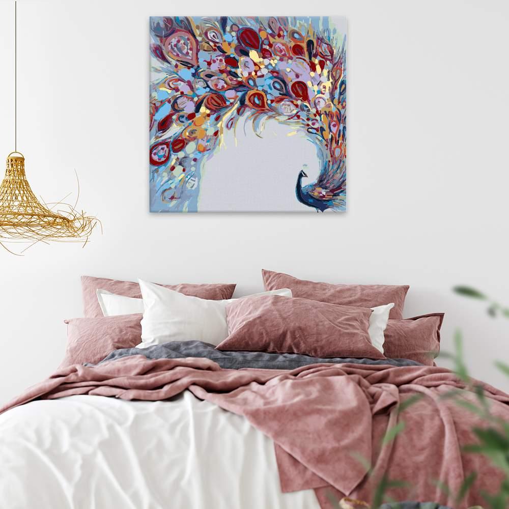 Malování podle čísel Barevný páv