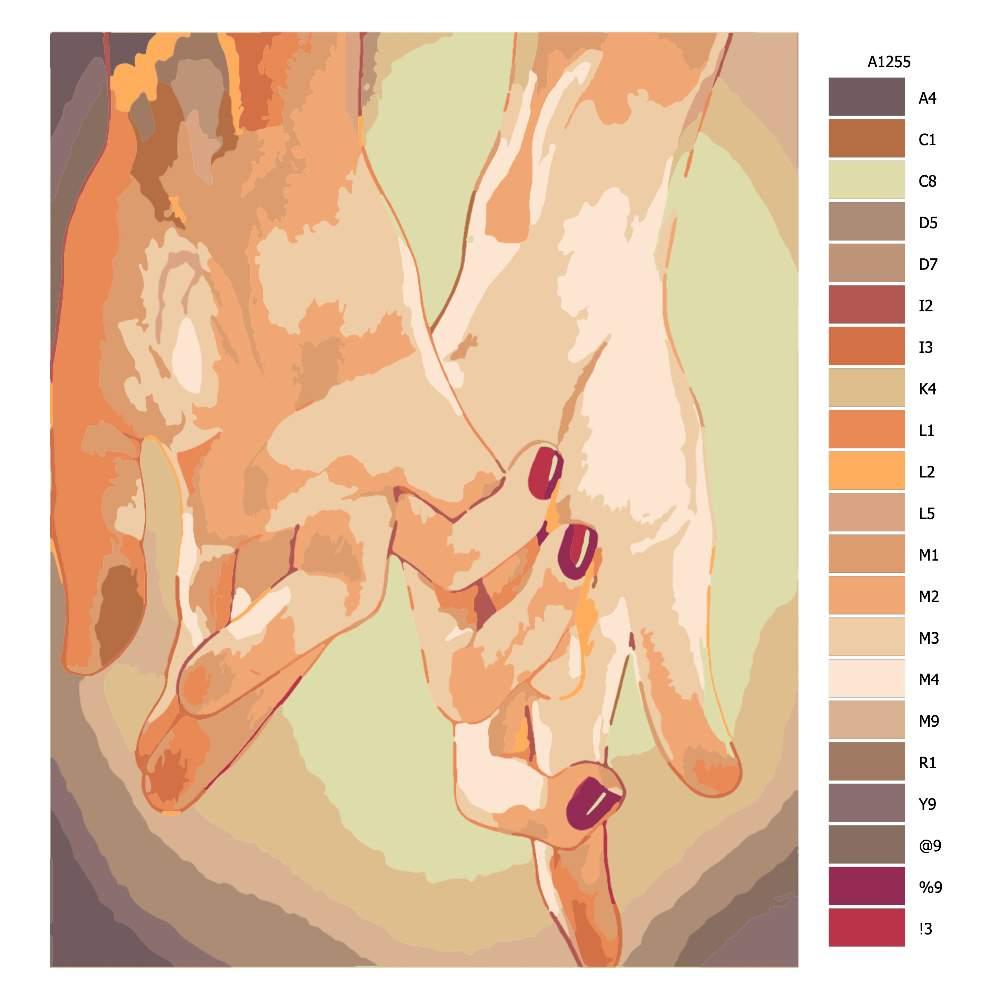 Malování podle čísel Ruce