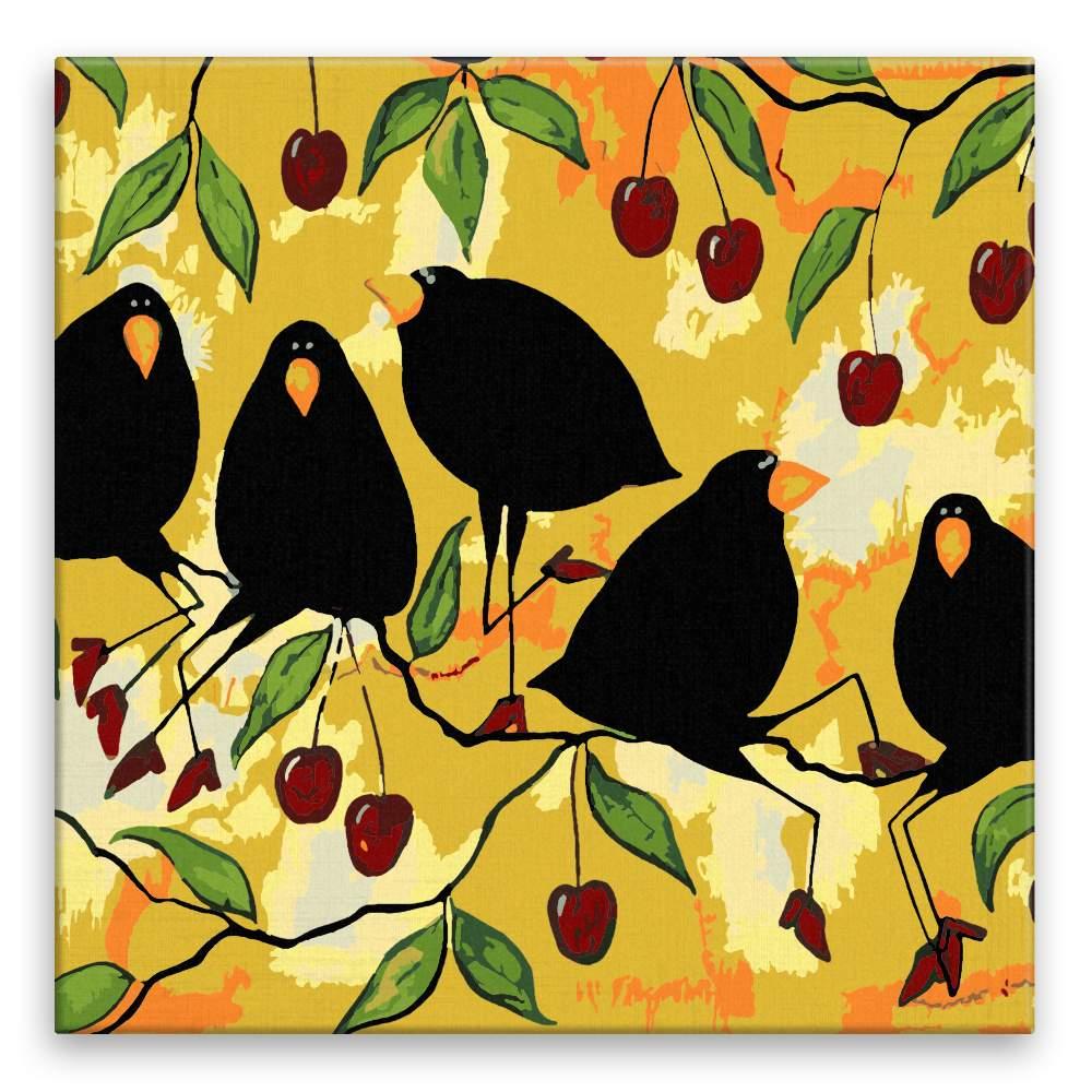Malování podle čísel Vrány na třešních