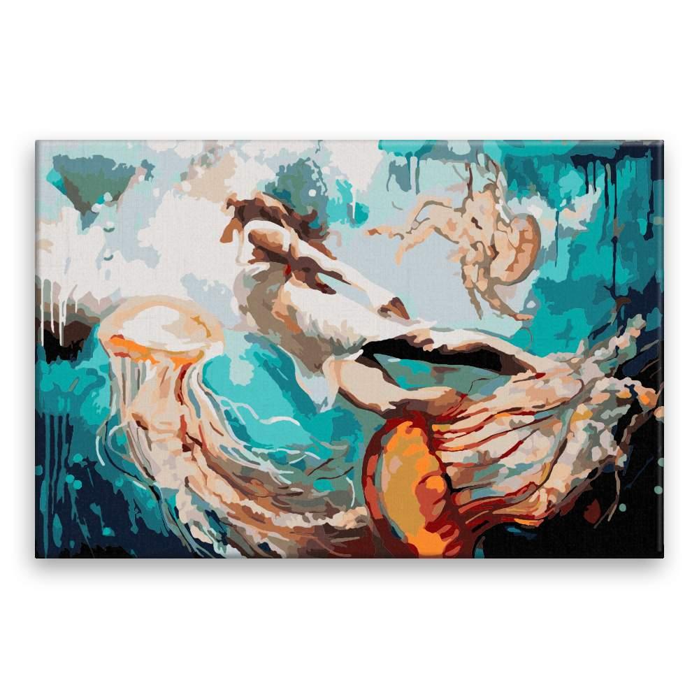 Malování podle čísel Dívka a medúzy