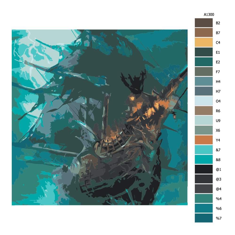 Návod pro malování podle čísel Loď ďábla