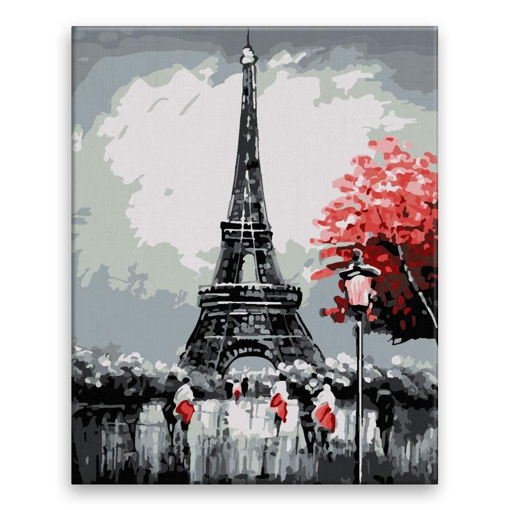 Malování podle čísel Eiffel Tower na podzim