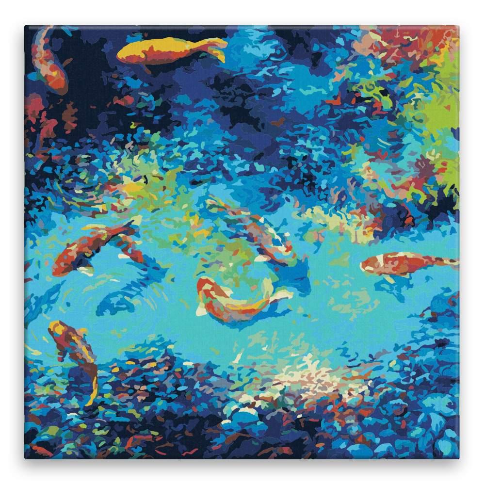 Malování podle čísel Rybky v jezírku