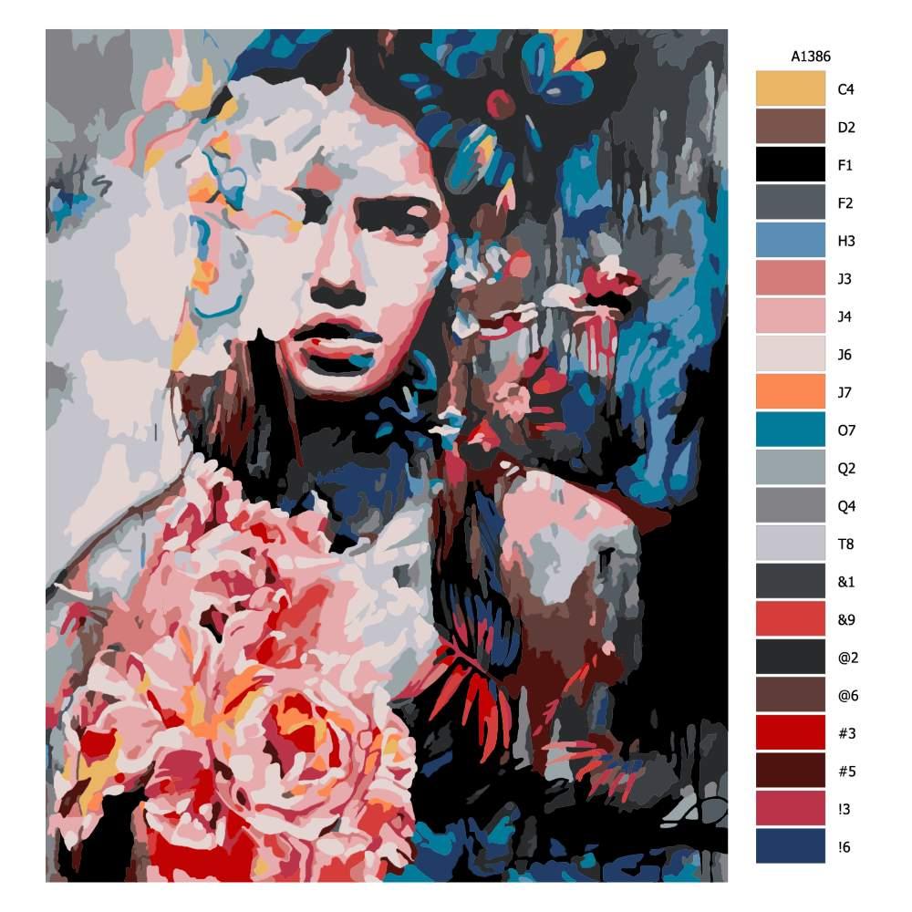 Malování podle čísel V pozadí