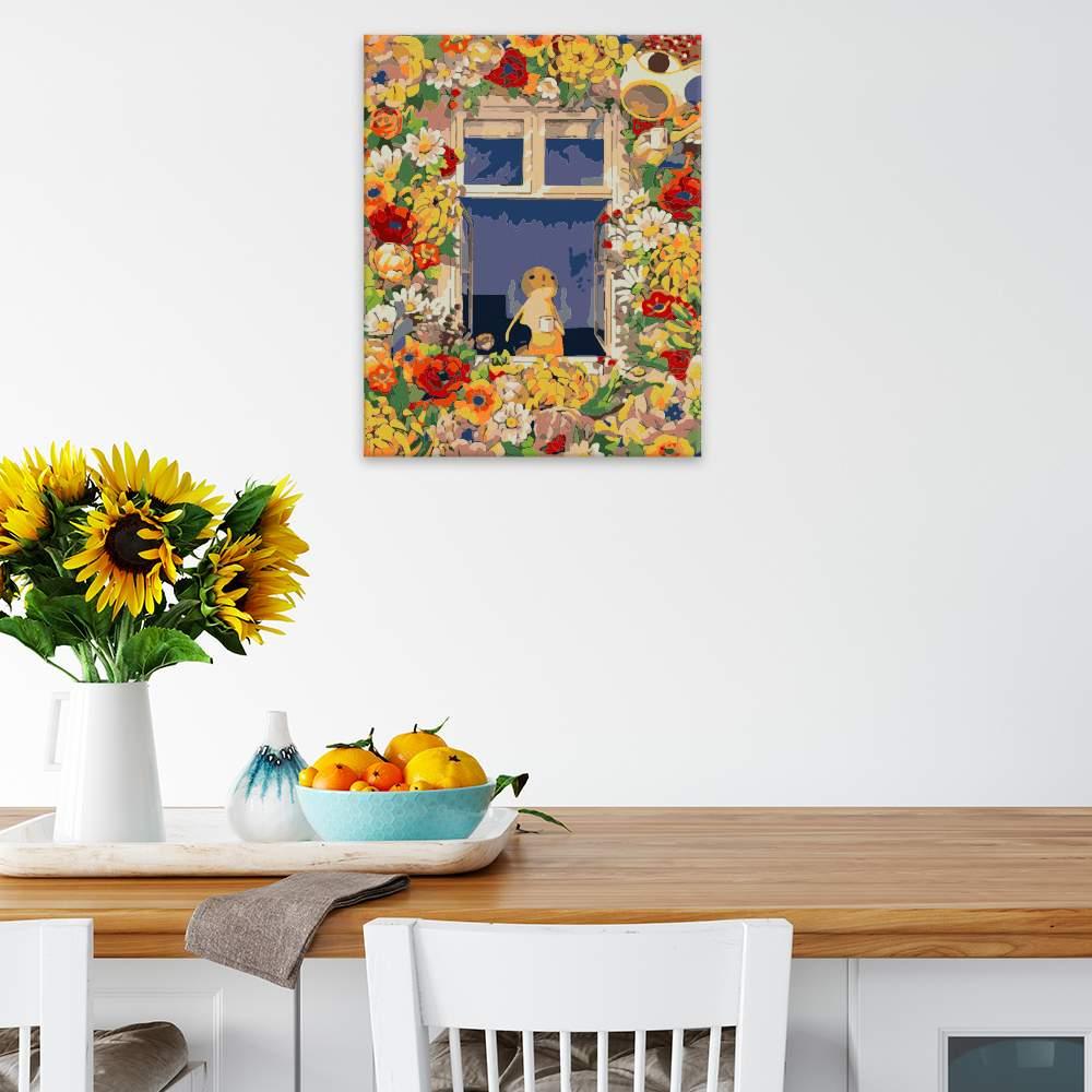 Malování podle čísel Květinový dům