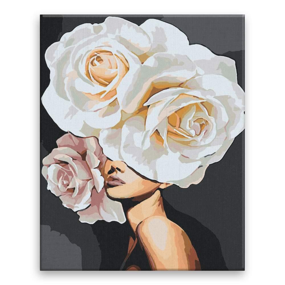 Malování podle čísel Květinová žena