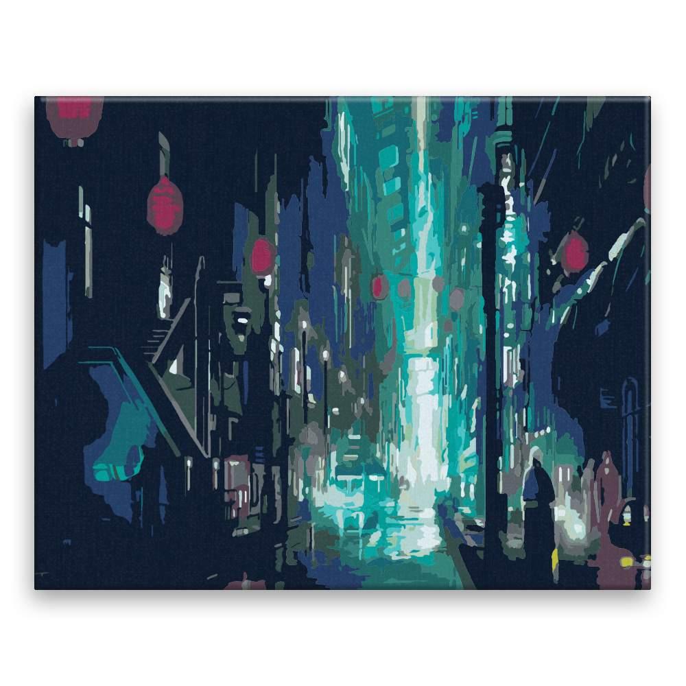 Malování podle čísel Tajemná ulice