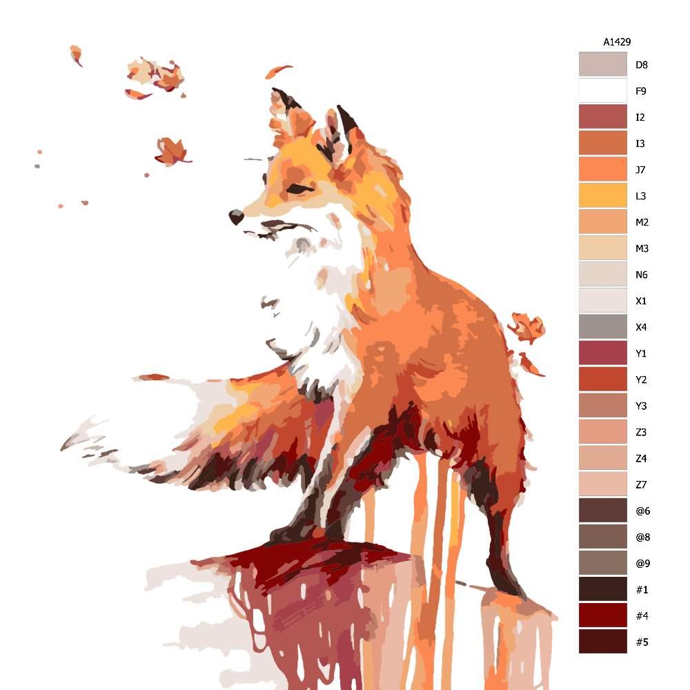 Malování podle čísel Liščí úvaha