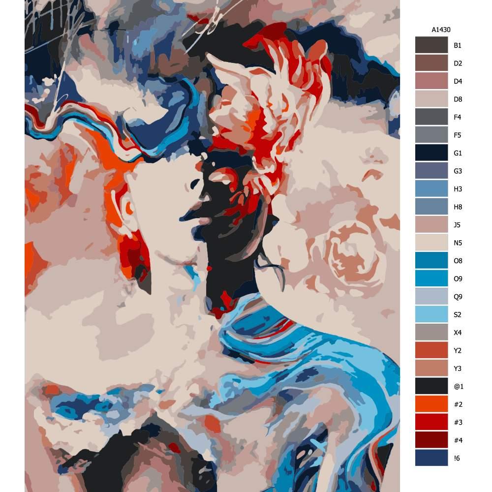 Návod pro malování podle čísel Zaslepení