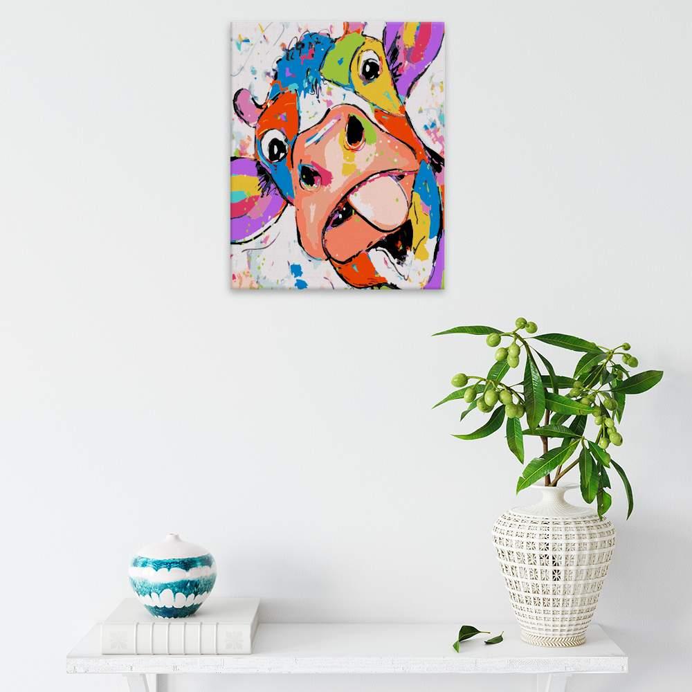 Malování podle čísel Legrační kráva