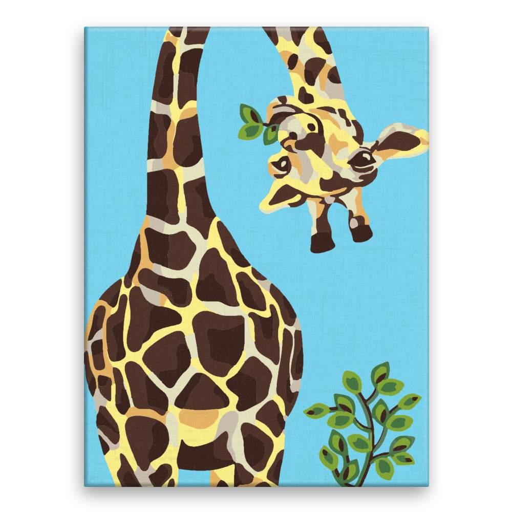 Malování podle čísel Nakukující žirafa