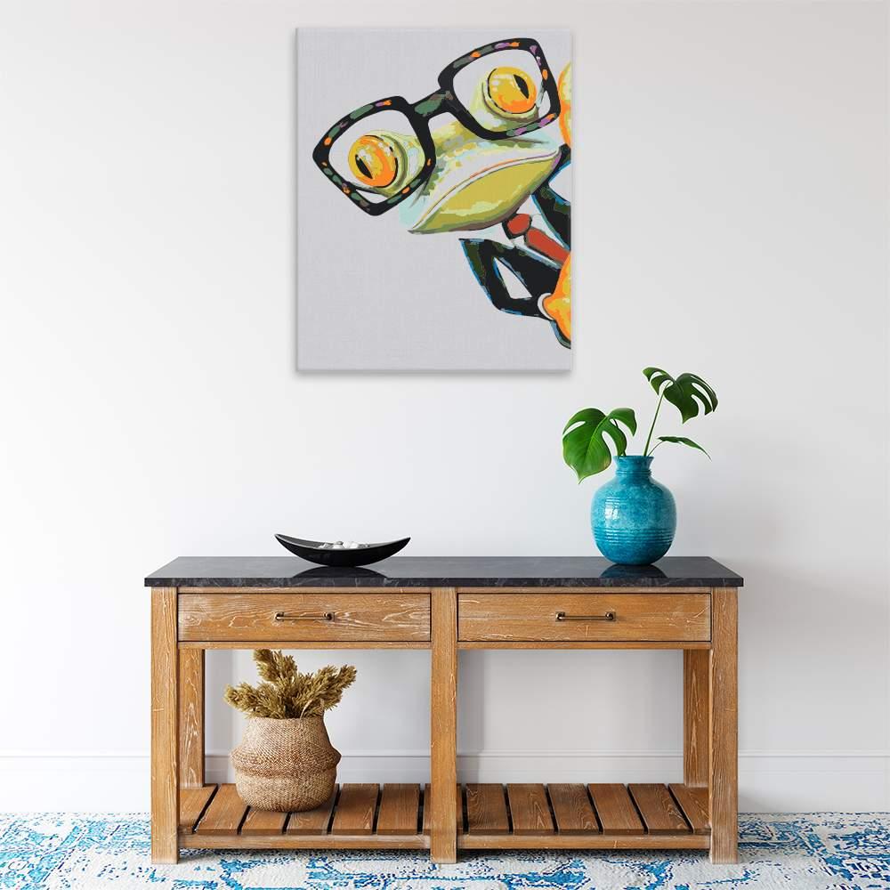 Malování podle čísel Kancelářský žabák