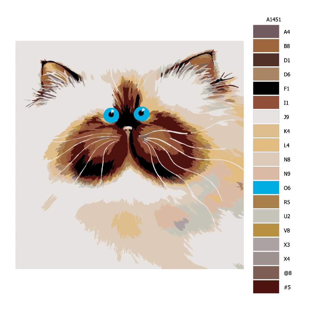 Malování podle čísel Modrooký chlupáč