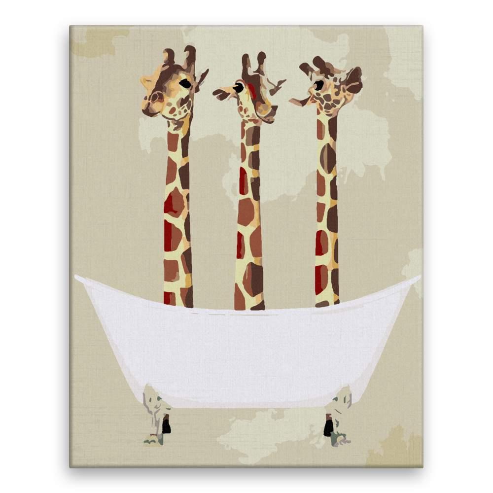 Malování podle čísel Žirafy ve vaně