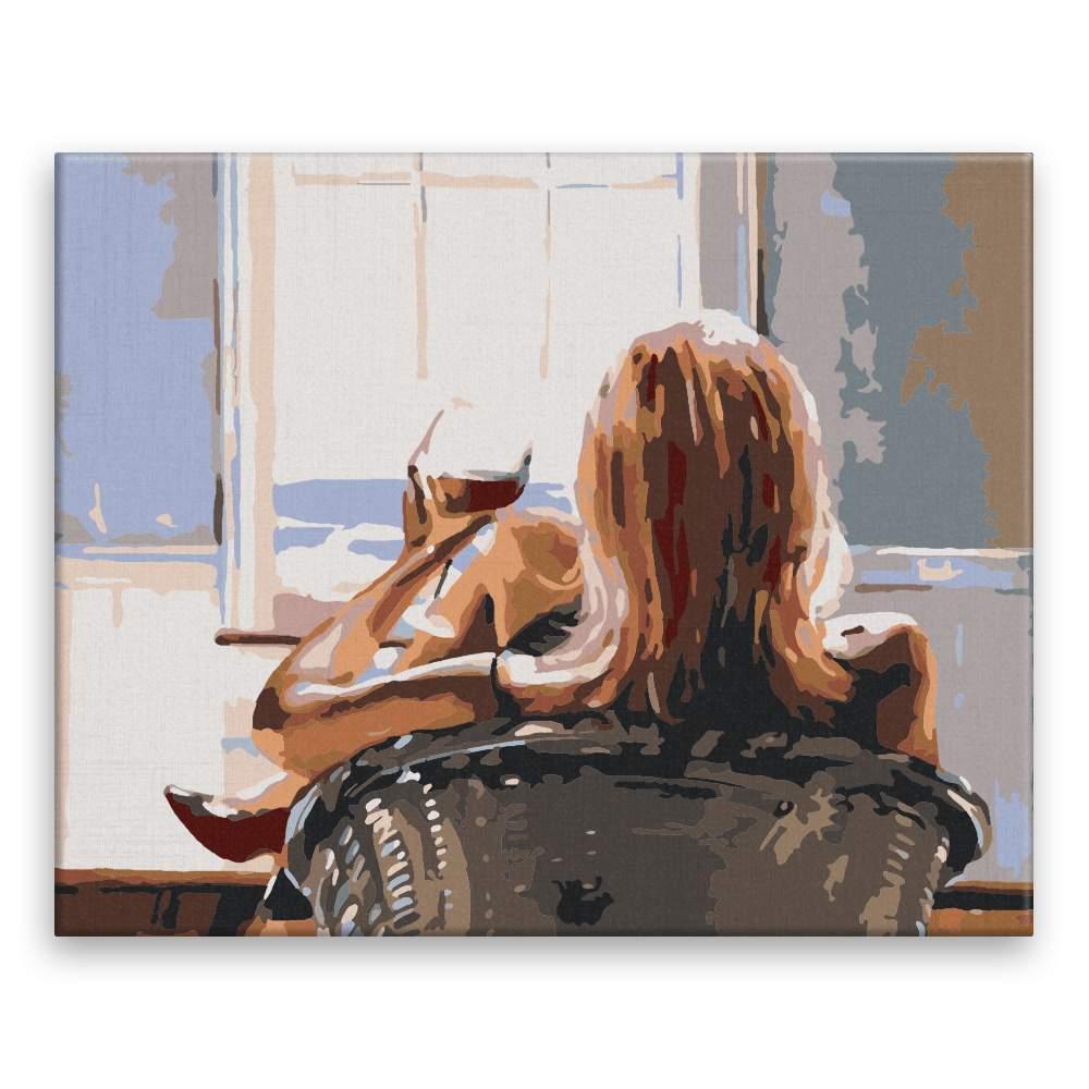 Malování podle čísel Se sklenkou vína