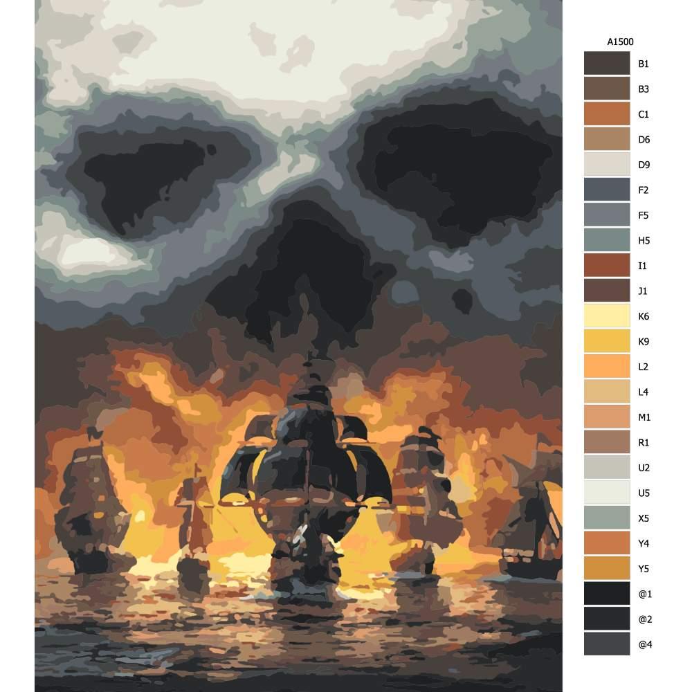 Návod pro malování podle čísel Nebe duchů