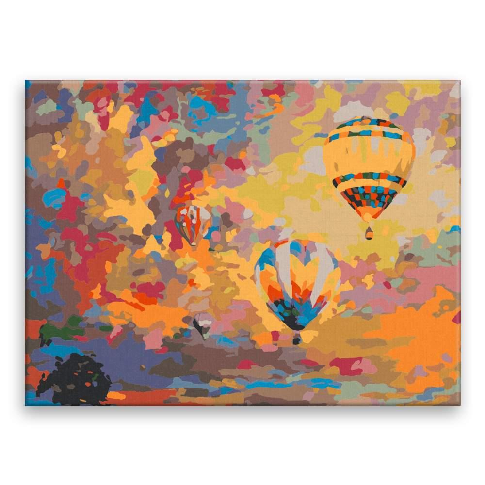 Malování podle čísel Horkovzdušné balony
