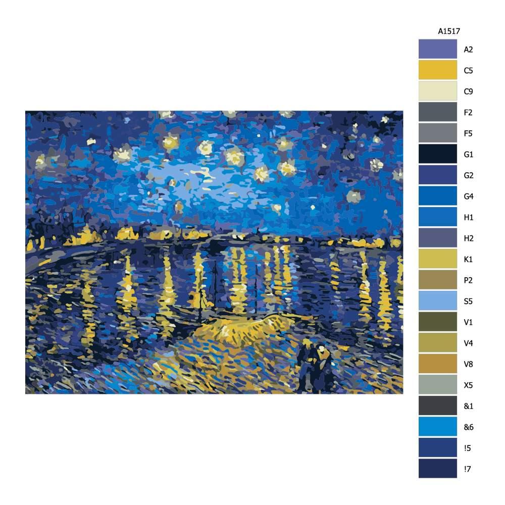 Návod pro malování podle čísel Ve svitu hvězd