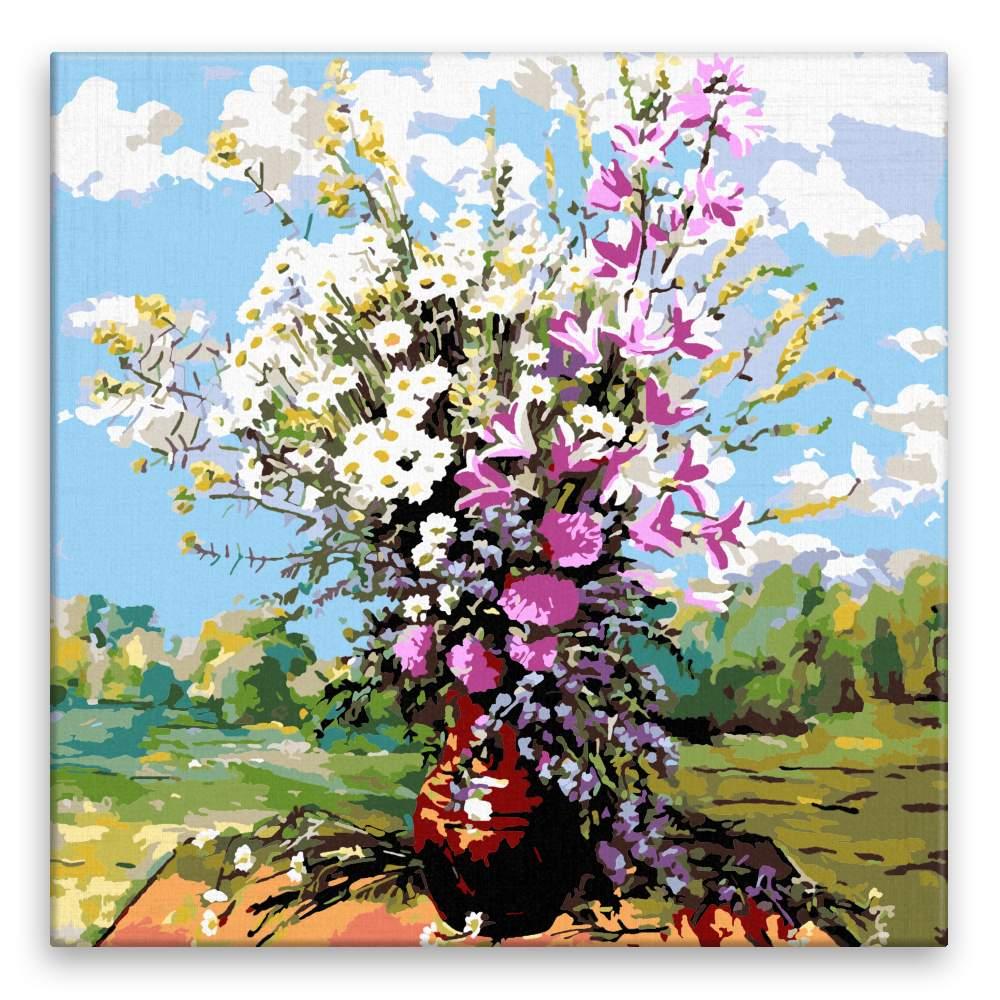 Malování podle čísel Polní květiny ve váze