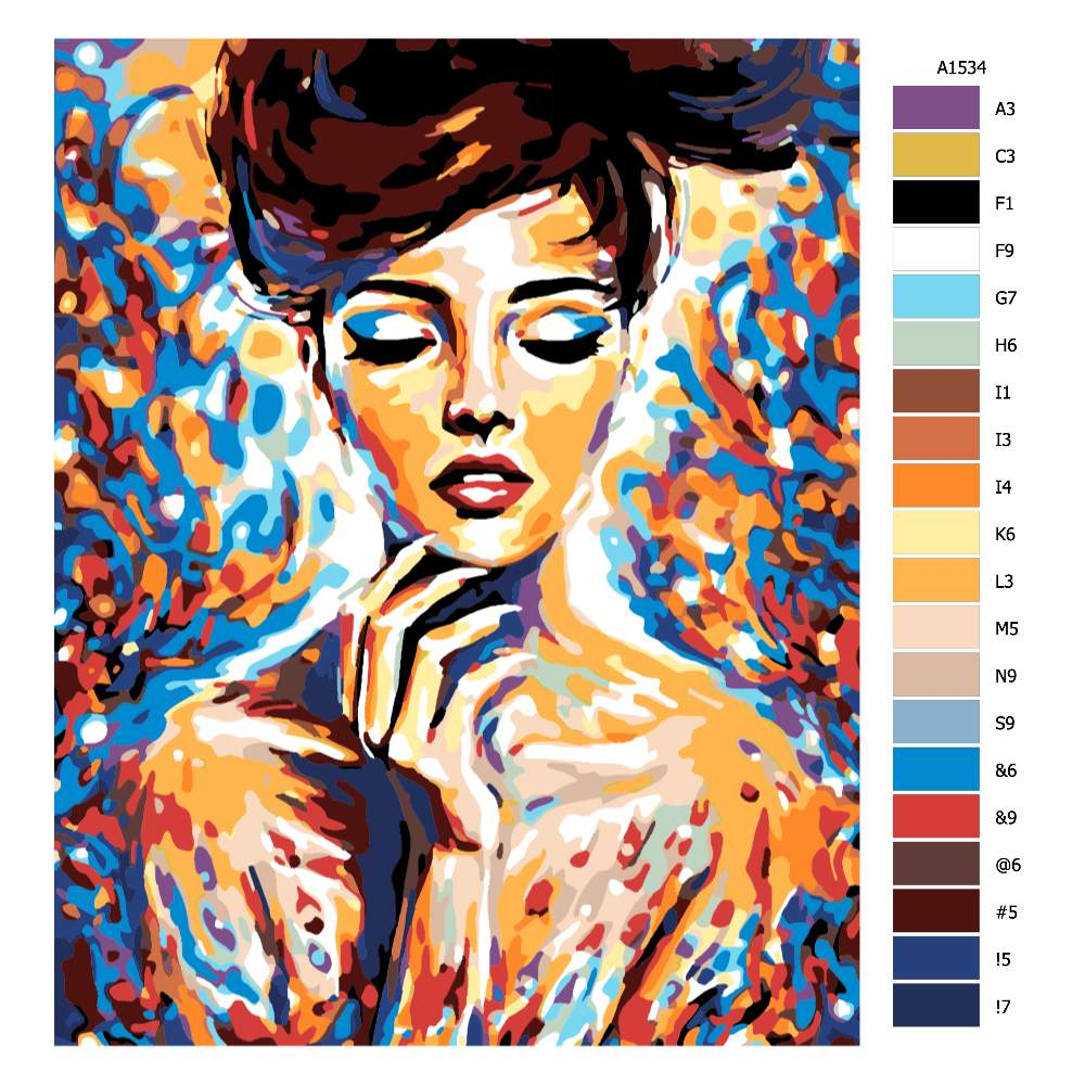 Návod pro malování podle čísel V zamyšlení v barvách
