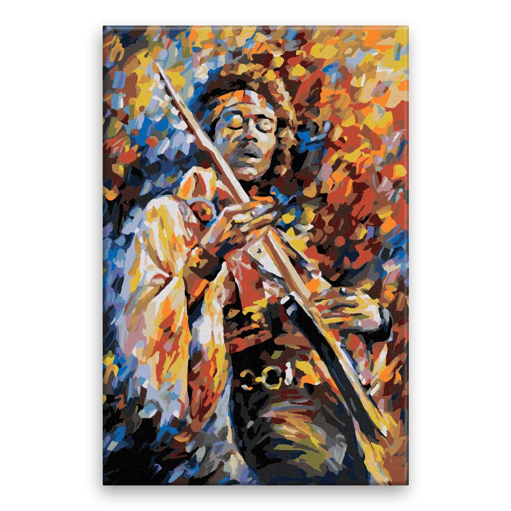 Malování podle čísel Jimi Hendrix s kytarou