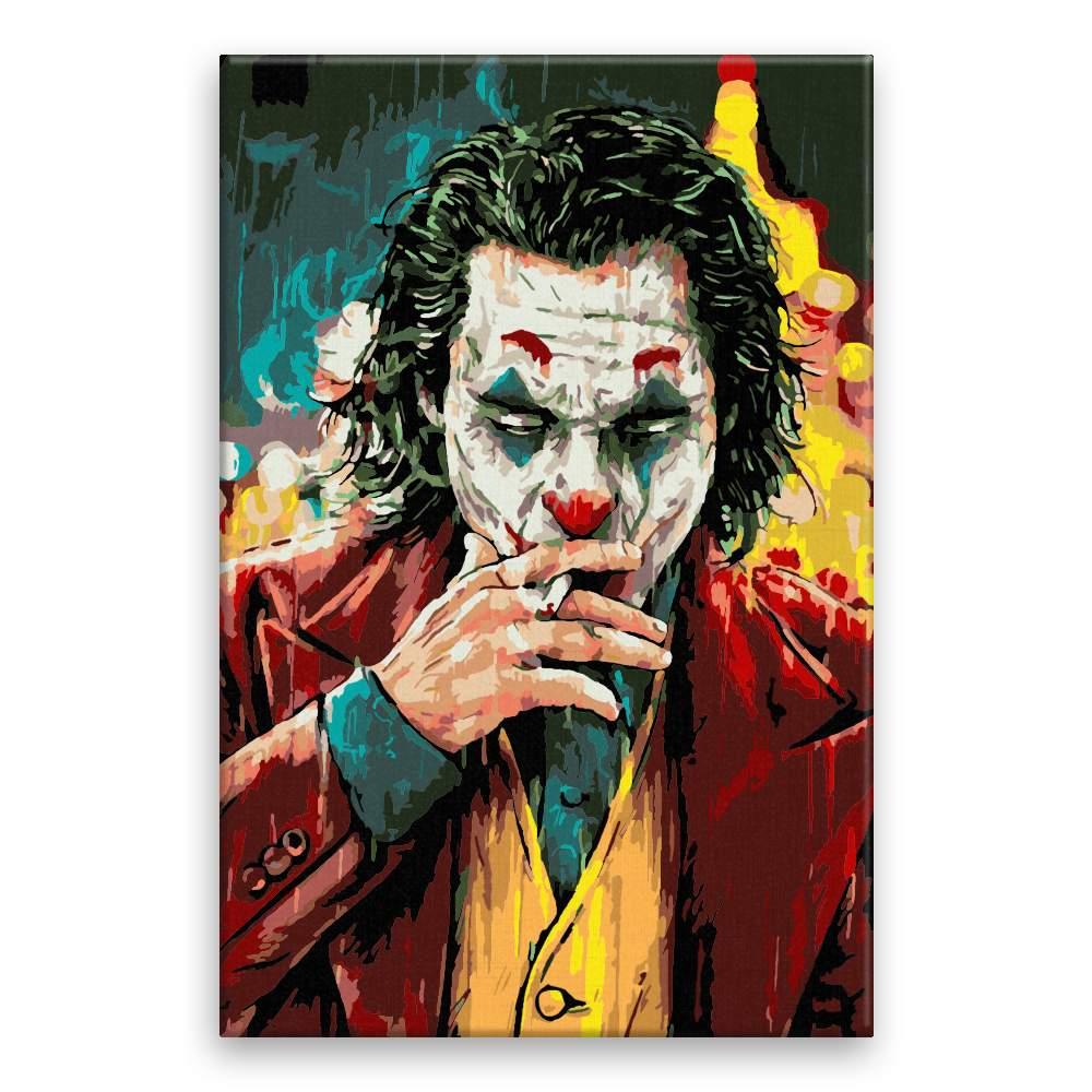 Malování podle čísel Joker s cigaretou