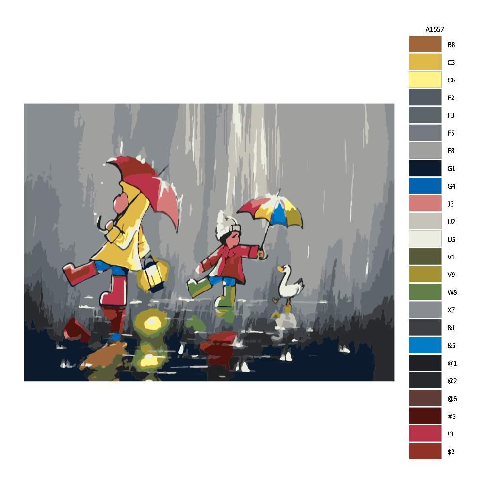 Návod pro malování podle čísel V nečase s lampičkou a přáteli