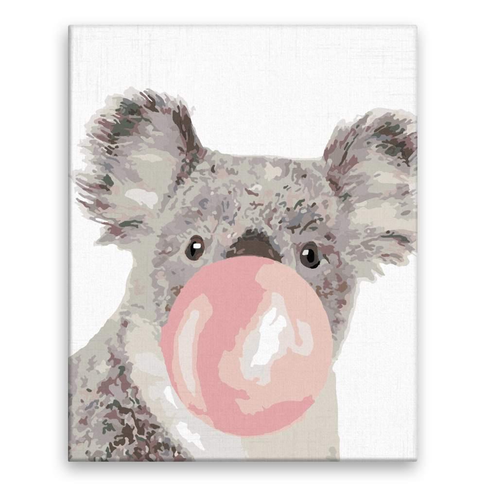 Malování podle čísel Koala s bublinou