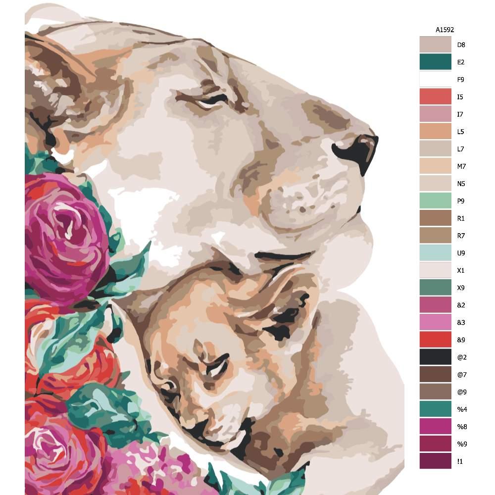 Návod pro malování podle čísel Nekonečná láska