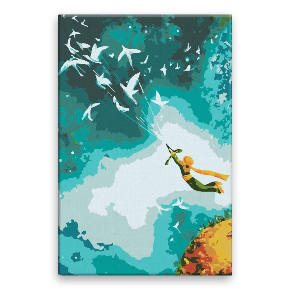 Malování podle čísel Letící malý princ