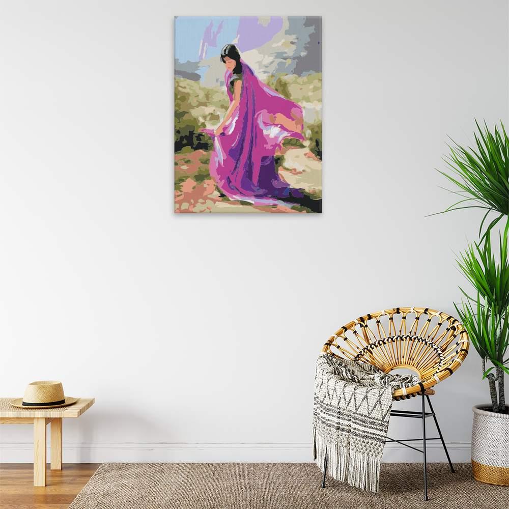 Malování podle čísel Tančící v Indii