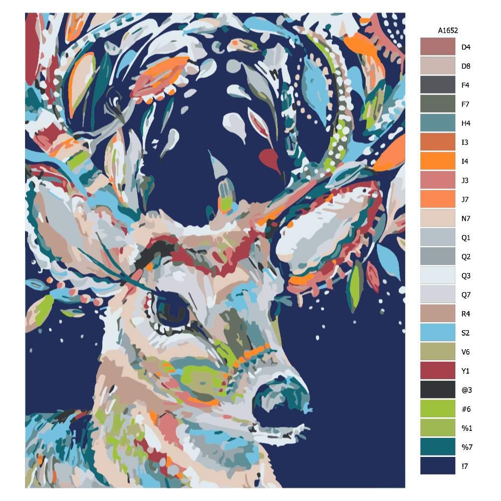 Malování podle čísel Karnevalový jelen